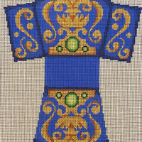 Blue Jeweled 3D Ornament