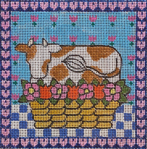 Cow and Flower Basket