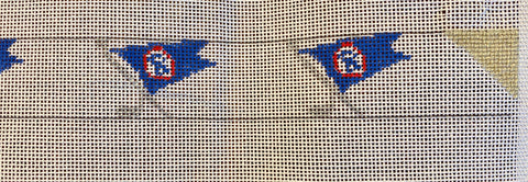 *SOME STITCHING* Ocean Reef Club Burgee Belt and fibers