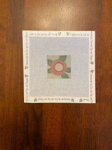 Small Floral Square on Congress Cloth