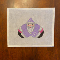 Purple Santa Heart