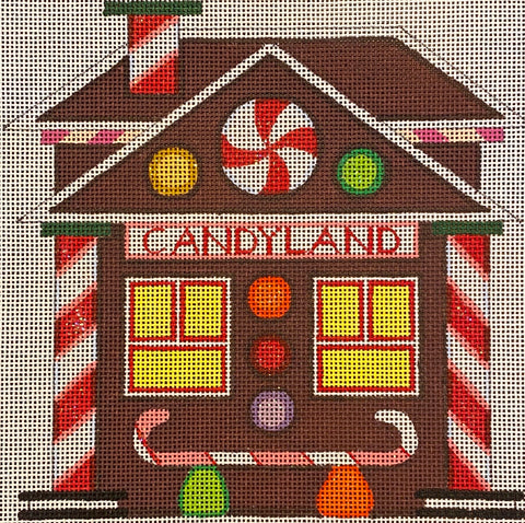 Candyland Train Depot with stitch guide