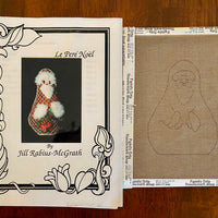 Le Pere Noel (line drawn canvas and guide)