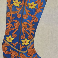 Blue Christmas Stocking Boot
