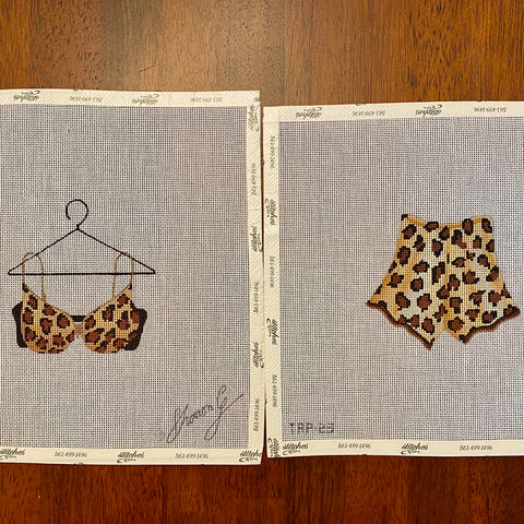 Leopard Bra and Tap Pants