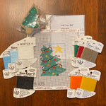 Tree Treat Bag with stitch guide and threads