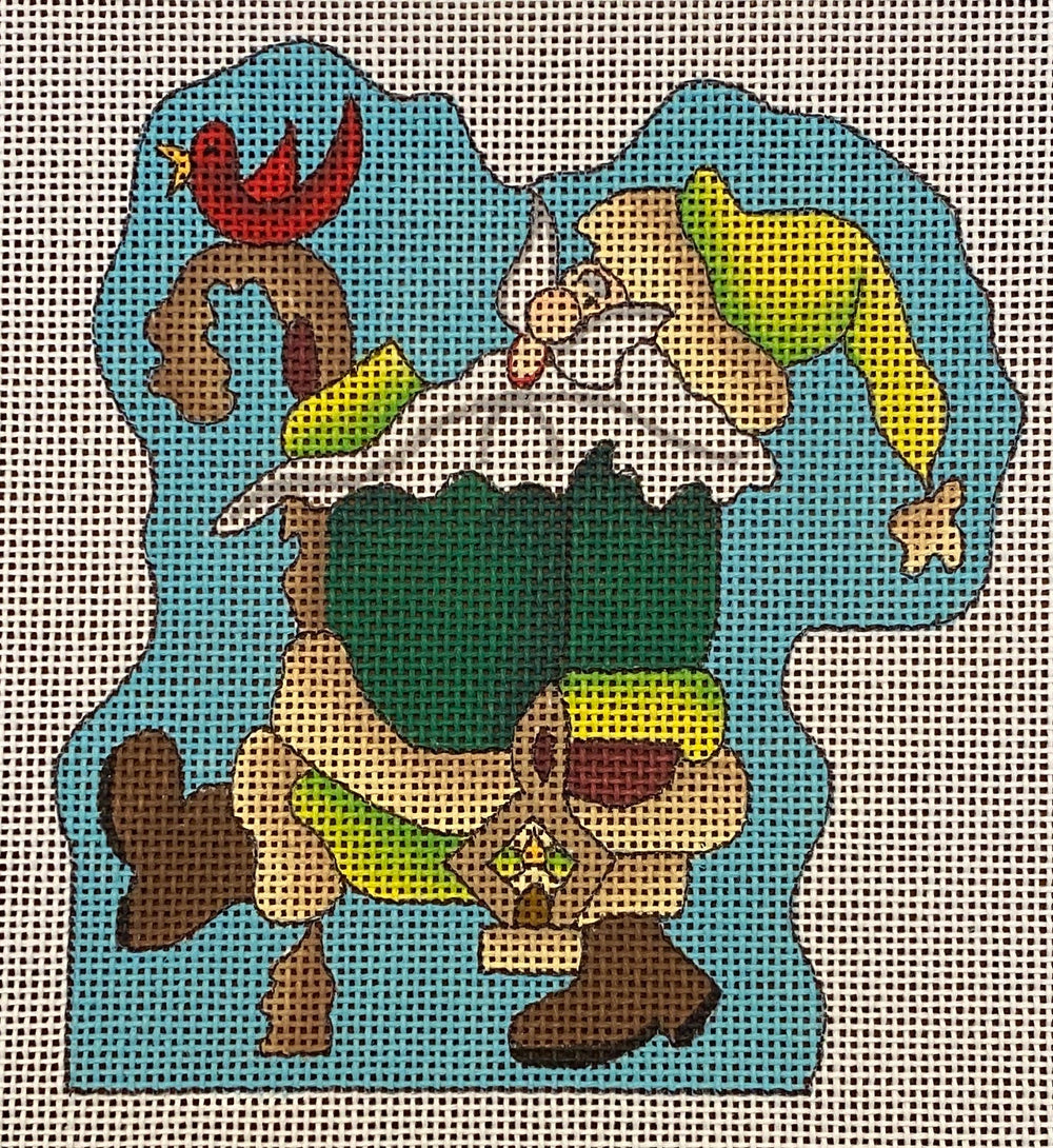Forest Santa with Stitch Guide