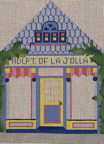 Needlepoint of La Jolla building