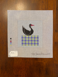 Black Swan on a Quilt Block