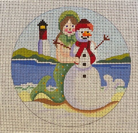 Mermaid with Snowman