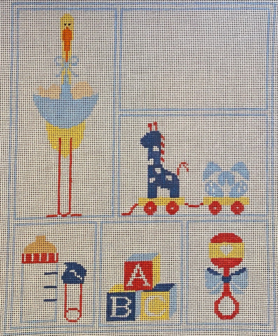 Baby Boy Sampler with stitch guide