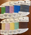10 cards of Silk Lame Braid