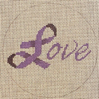 Purple Ribbon Love
