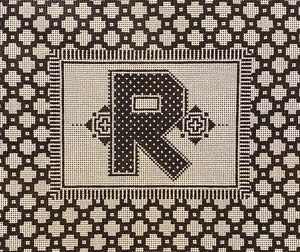 Frame with R Monogram