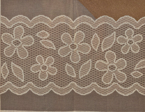 Gray & White Lace (partially stitched, includes fibers)