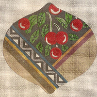 Patterned Ornament with Holly
