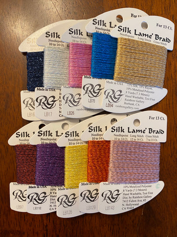 10 cards of Silk Lame for 13ct