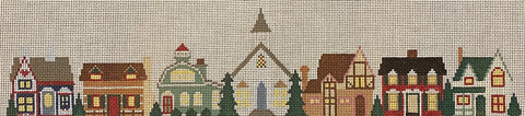 Row Houses with stitch guide