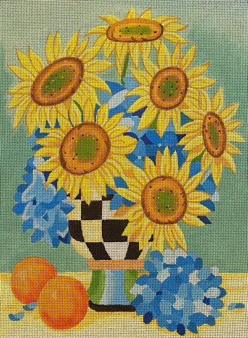 Sunflowers with stitch guide
