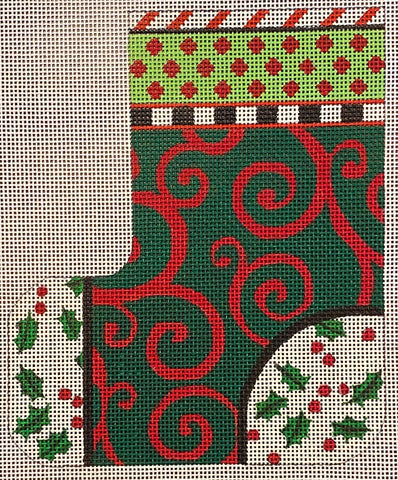 Green/Red Squared stocking