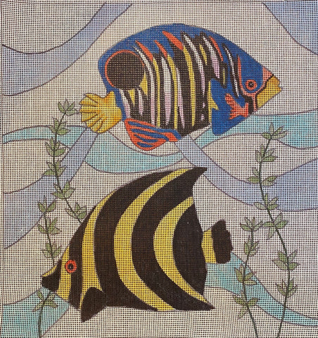Vintage Tropical Fish - Yellow/Black Striped