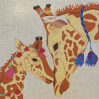 Tasseled Giraffes with stitch guide