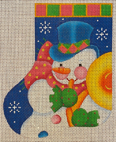 Snowman with French Horn Mini Sock
