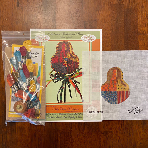 Autumn Crazy Quilt Pear Kit