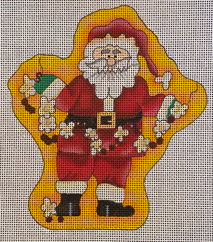 Stringing Popcorn Santa with Stitch Guide
