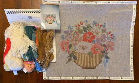 Basket of Flowers Pillow Kit (Giclee)