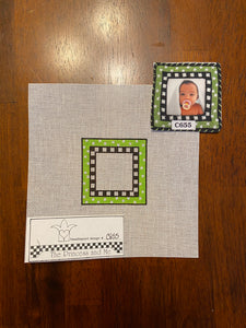 Little Green Frame with stitch guide