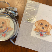 Alarm Clock with Dog Canvas