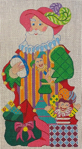 Troubadour Tradition Santa (Radko) with stitch guide