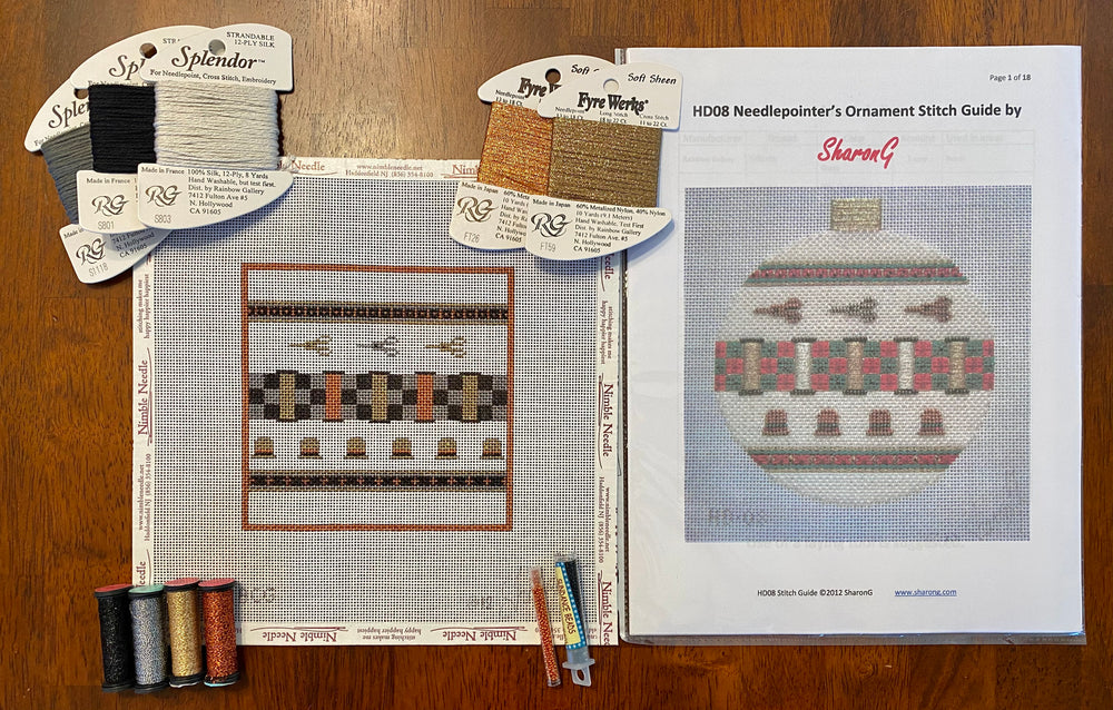 Needlepointer's Square - incl stitch guide and threads
