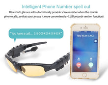 Load image into Gallery viewer, Smart Bluetooth Sunglasses handsfree Stereo mp3 Music polarizing Sun Glasses