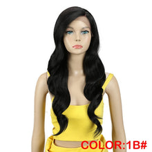 Load image into Gallery viewer, MAGIC Hair 26 Inch Ombre Dark Red Blonde Long Wavy Wigs Front Lace Hair Synthetic Lace Wigs for Black Women Heat Resistant Hair