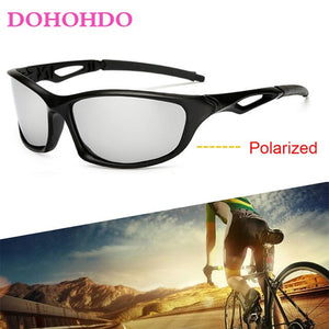 DOHOHDO Classic Alloy Driver Men Sunglasses Polarized Night Vision Lens Larger Frame Eyewear Fishing Sun Glasses For Women UV400