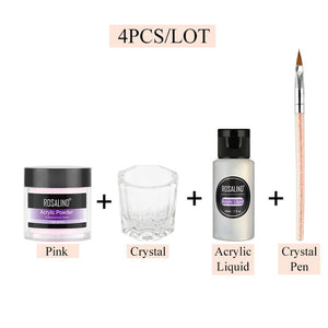 ROSALIND Acrylic Powder Poly Gel For Nail Polish Nail Art Decorations Crystal Manicure Set Kit Professional Nail Accesorios