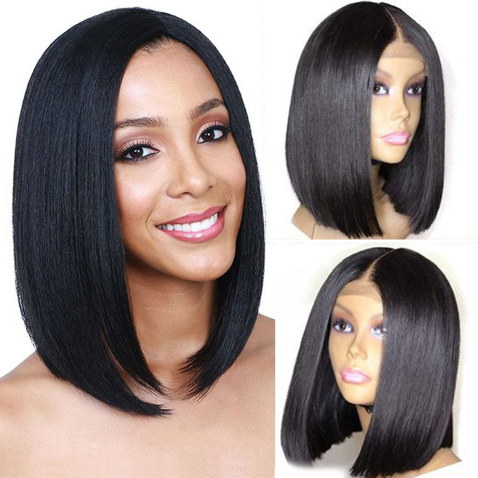 Liddy Wig Short Bob Wigs Brazilian Lace Front Human Hair Wigs 13x4 Straight 100% Human Hair Wigs Natural Color Non-remy Wigs