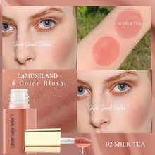 Load image into Gallery viewer, LAMUSELAND 4 Colors Liquid Blush Beauty Blusher #LA2008