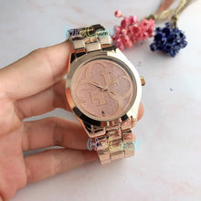 Load image into Gallery viewer, Luxury Hot Sale brand Ladies watches Silver Gold Full Steel Quartz Watch Female black Clock Montre Femme Relogio Feminino