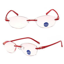 Load image into Gallery viewer, New High-end Diamond Trimming EyeGlasses Anti Blue Light Frameless Glasses Man Women Reading Glasses+1.0+1.5+2.0+2.5+3.0+3.5+4.0
