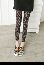 Load image into Gallery viewer, Leggings Hot Sell Women's Skull&flower Black Leggings Digital Print Pants Trousers Stretch Pants LG03