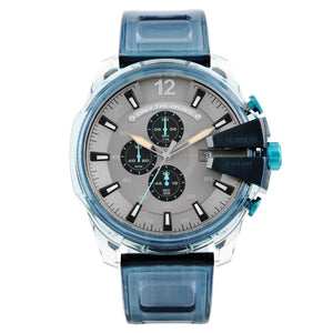 Diesel CHIEF series three eye timing blue translucent watch band