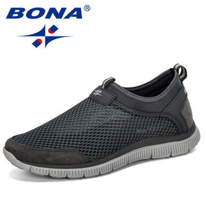 BONA  New Style Men Breathable Comfortable Fashion Sneakers Wear-Resistant Lightweight Man Causal Shoes Zapatos Hombre Male
