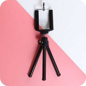 SHELLNAIL Camera Cell Phone Holder Clip Desktop Photography Telescopic Tripod Small Digital SLR Camera Mobile Phone Holder Stand