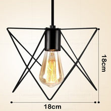 Load image into Gallery viewer, LED Indoor E27 modern cage pendant light iron retro loft pendant lamp metal Guard Hanging restaurant Lamp living room decoration