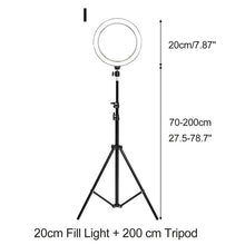 Load image into Gallery viewer, Photography Selfie LED Ring Light Dimmable  Beauty Fill Lamp With Stand Tripod Bracket For YouTube Makeup Video Live Studio