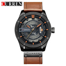 Load image into Gallery viewer, Luxury Watch Brand CURREN Men Military Sports Watches Men's Quartz Date Clock Man Casual Leather Wrist Watch Relogio Masculino