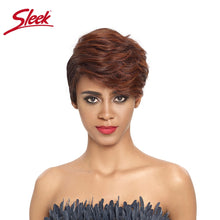 Load image into Gallery viewer, Sleek Short Human hair wigs Cool Short Pixie Haircuts for 2020 U Part Lace Short Wigs 100% Remy Brazilian Hair Wigs Cutr Wigs